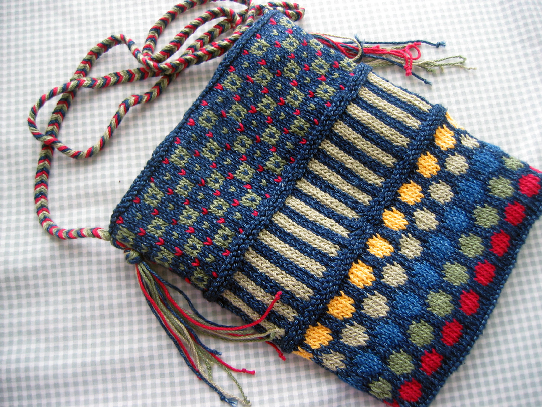 Knit Purse Pattern : Dots and Stripe Purse Knitting In Flashes