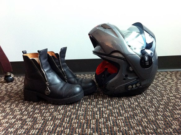 Boots-and-helmet