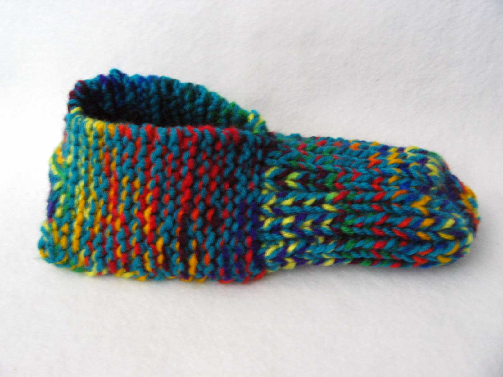 seamless slippers Knitting In Flashes