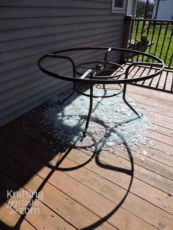 shattered tabletop