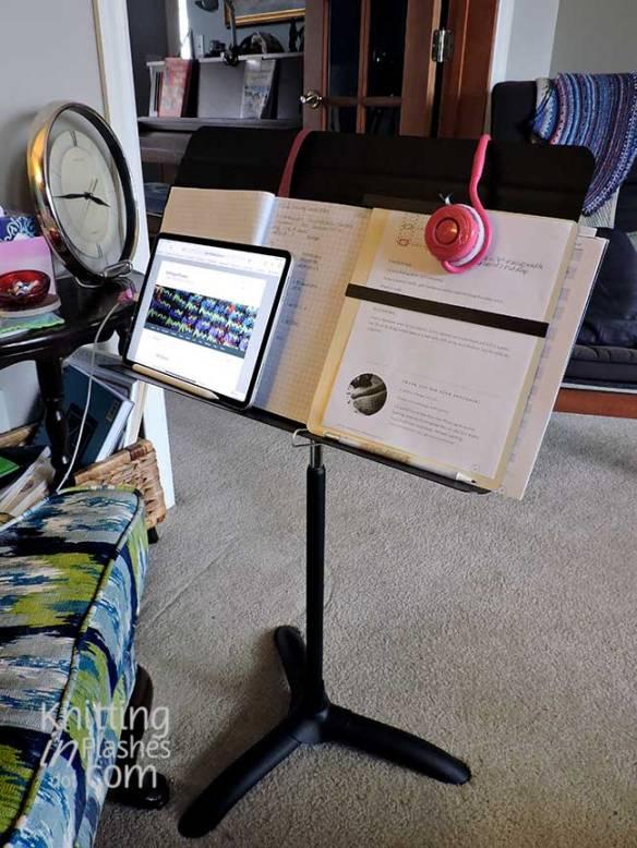 Manhasset 48CA music stand, knitting stand