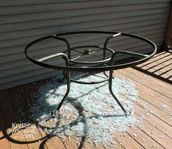 shattered glass tabletop