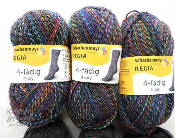 Regia sock yarn in Indian Night