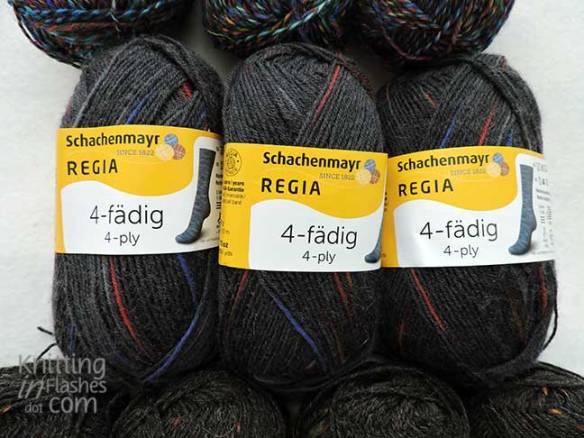 Regia sock yarn Spot Graphite