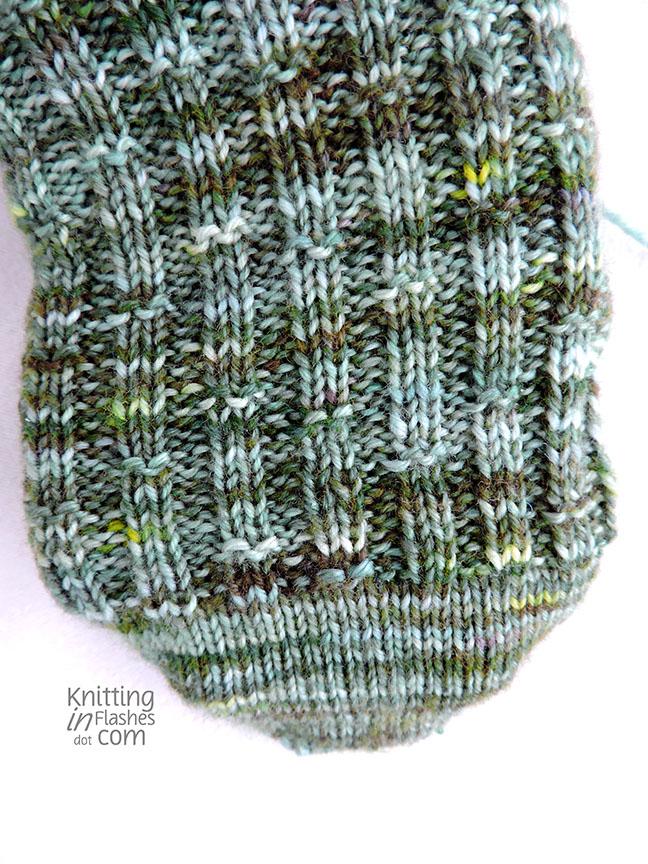 hand-dyed yarn, bamboo sock pattern
